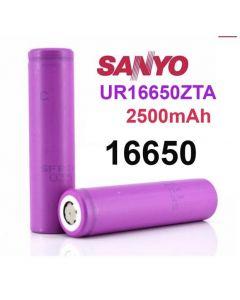 Sanyo UR 16650 ZTA 2500mAh 3,6V - 3,7V Li-Ion-Akku